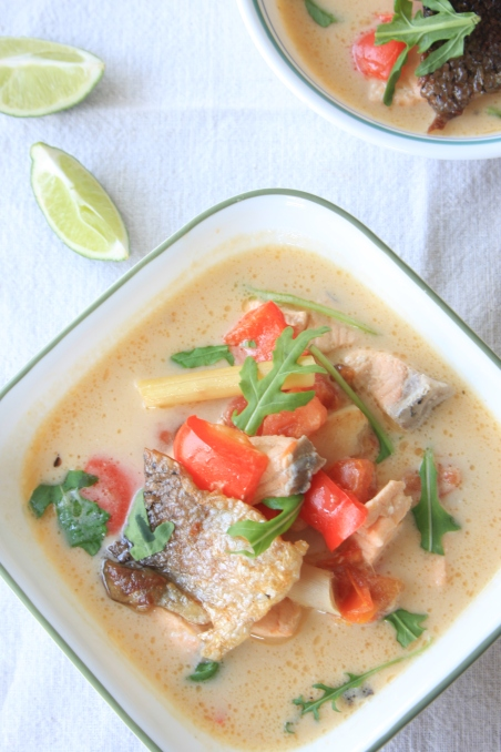 salmon tom yum