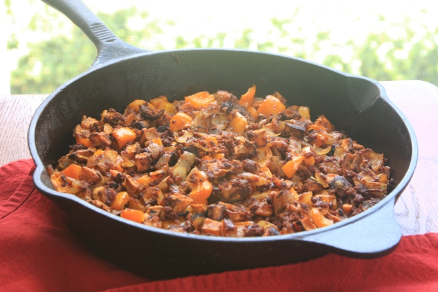 sweet potato chorizo hash 2