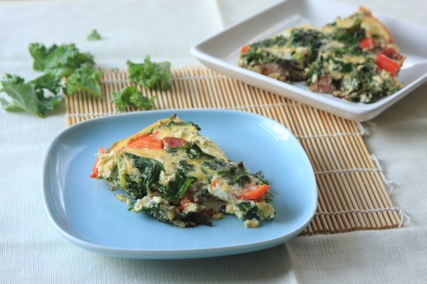 Kale Sausage and Feta Frittata….and how kids are the best