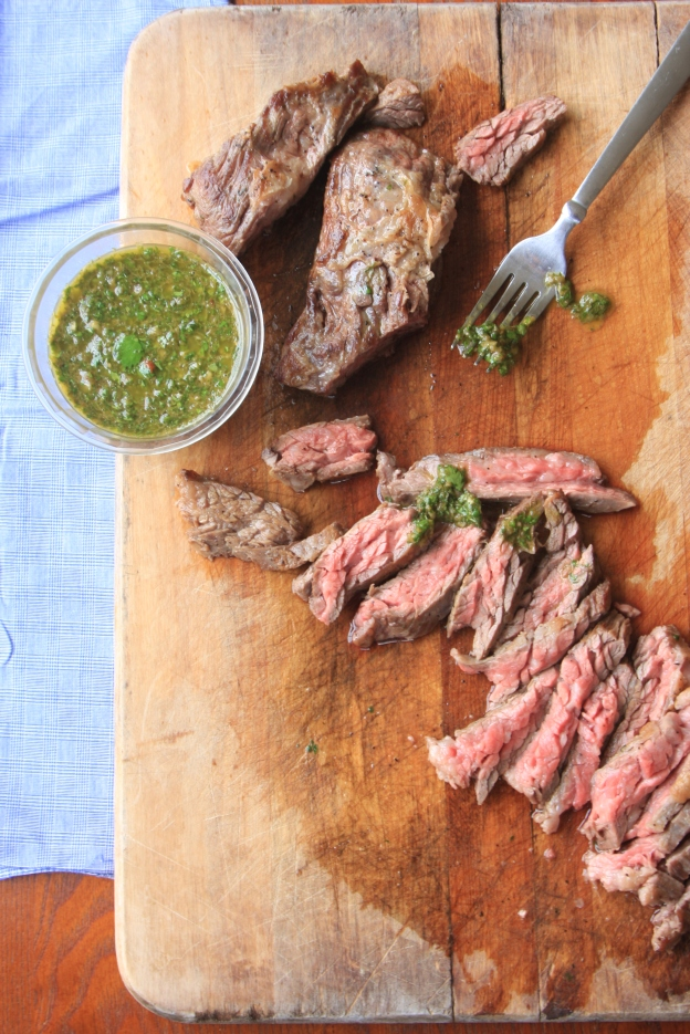 skirt steak with chimuchurri
