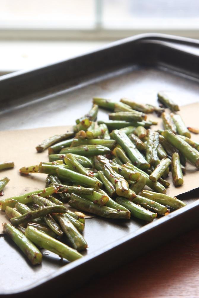 szechuan blistered green beans
