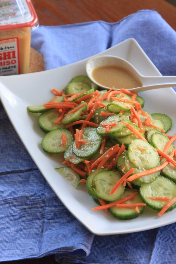 cucumber miso ginger salad