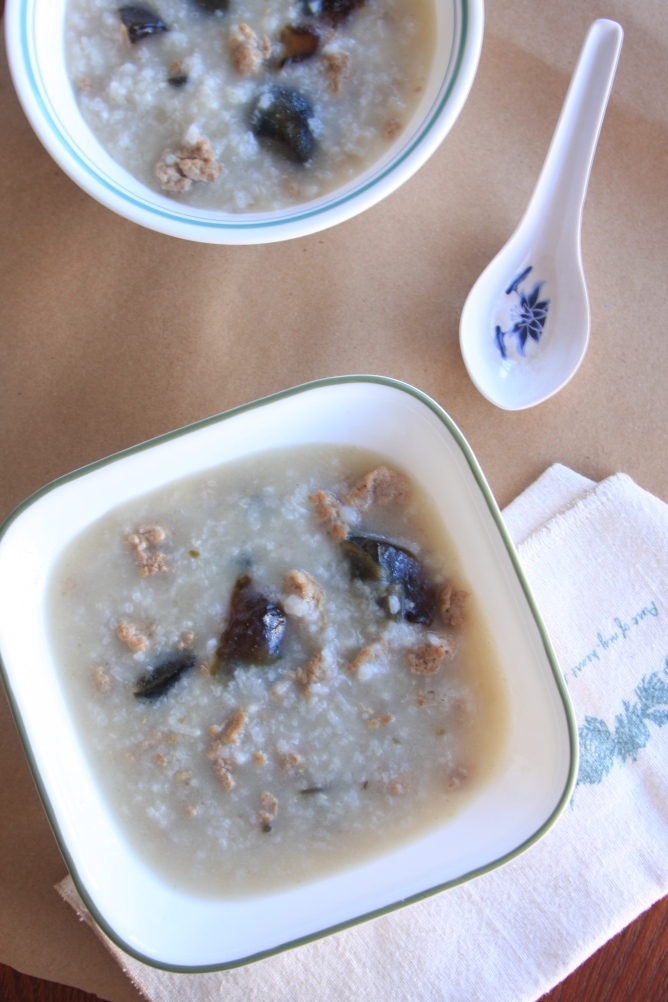 preserved duck egg and pork congee1