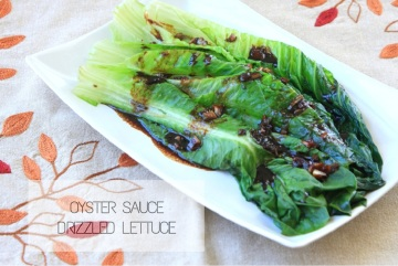 OYSTER SAUCE DRIZZLED LETTUCE caption