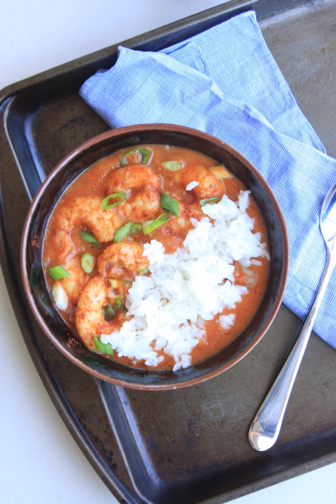 Saucy creole shrimp