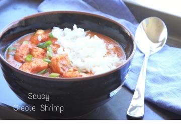 Saucy Creole Shrimpe caption