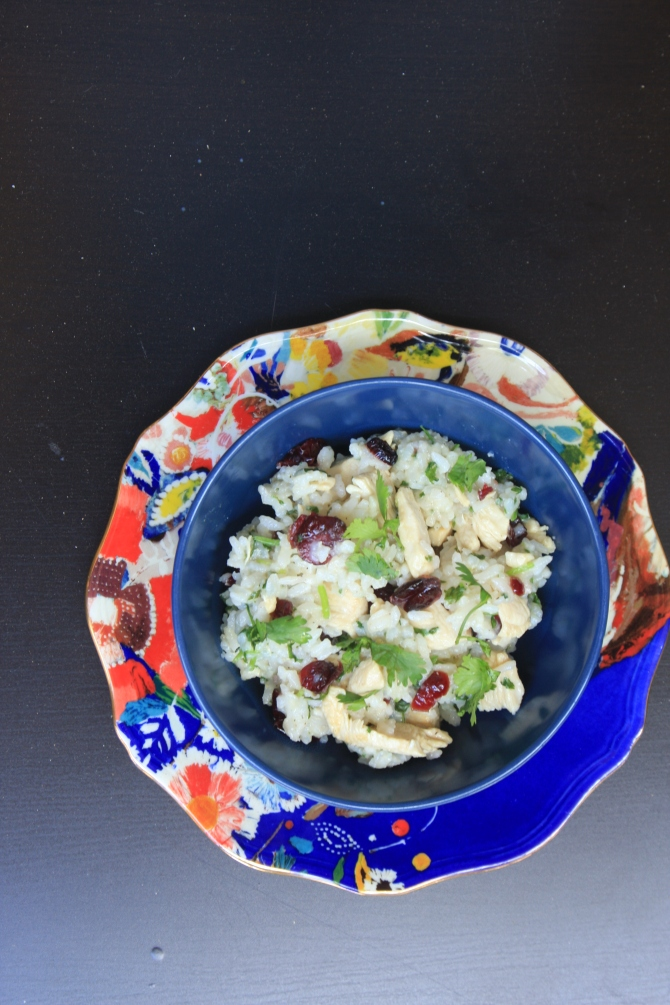 chicken-with-cilantrol-rice-and-cranberries
